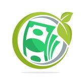 De cirkelvorm van het embleempictogram met het concept financiële investerings bedrijfsontwikkeling Stock Afbeeldingen