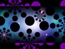 De Cirkelvormen van Dots Background Shows Spots Or Royalty-vrije Stock Fotografie