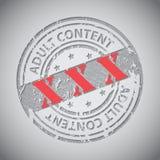 De cirkelzegel van de Grunge volwassen inhoud met XXX teksten Stock Afbeelding