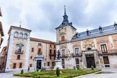 De Cisneros Madrid Spanien Plaza de la Villa Casa Lizenzfreies Stockbild