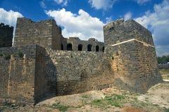 De citadel in Bosra stock foto