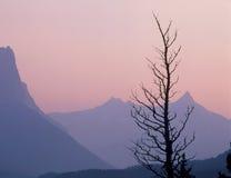 De Citadel en Fusilladebergen bij schemering, Gletsjer Nationaal Park, Montana royalty-vrije stock afbeeldingen