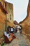 De Citadel Transsylvanië Roemenië van Râşnov van de keistraat Stock Afbeeldingen