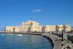 De Citadel van Qaitbay, Alexandrië, Egypte royalty-vrije stock afbeelding