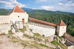 De citadel van Rasnov, dichtbij Brasov, Roemenië Stock Foto's