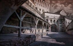 De citadel van Sighisoara Stock Foto's