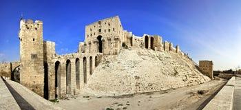 De citadel van Syrië - Aleppo- Stock Afbeelding