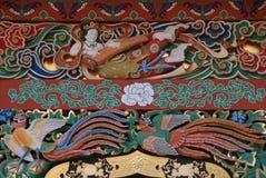 De citerspeler van het Zuihodenmausoleum Stock Foto