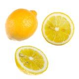 De citroen. Geheel en besnoeiing stock afbeelding