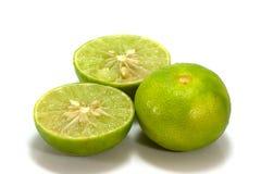 De citroen isoleert op witte achtergrond Royalty-vrije Stock Foto