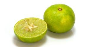 De citroen isoleert op witte achtergrond Stock Fotografie