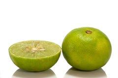 De citroen isoleert op witte achtergrond Royalty-vrije Stock Fotografie