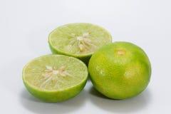 De citroen isoleert op witte achtergrond Royalty-vrije Stock Afbeelding