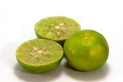 De citroen isoleert op witte achtergrond Stock Afbeeldingen
