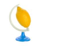 De citroen van de planeet Stock Foto