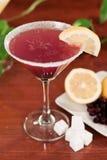 De citroendaling martini van de bosbes Royalty-vrije Stock Fotografie