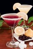 De citroendaling martini van de bosbes Royalty-vrije Stock Afbeeldingen