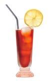 De citroenthee van het ijs, geïsoleerdee drank, Stock Afbeeldingen