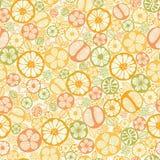 De citrusvrucht snijdt naadloze patroonachtergrond stock illustratie