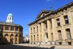 De Clarendonbouw en Sheldonian-Theater, Oxford stock fotografie