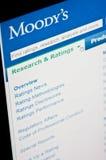 De classificaties van Moody's stock afbeeldingen