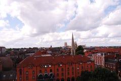 De Clifford` s toren, u kan zover als het Kasteel van York zien stock afbeelding