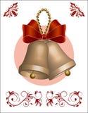 Or de cloches de Noël photos libres de droits