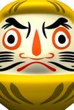 de Close†para arriba de la muñeca amarilla de Daruma Fotografía de archivo libre de regalías