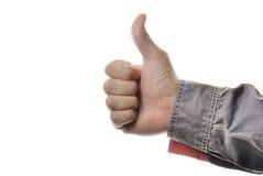 De close-up bemant hand die op wit wordt geïsoleerdg Royalty-vrije Stock Foto