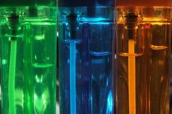 De close-up van aanstekers Stock Afbeeldingen