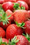 De close-up van aardbeien stock foto