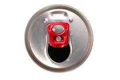 De close-up van aluminiumdrank kan Stock Afbeelding