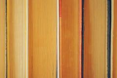 De close-up van boeken Stock Afbeeldingen