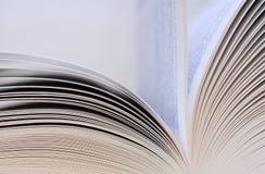 De close-up van boekpagina's Royalty-vrije Stock Foto