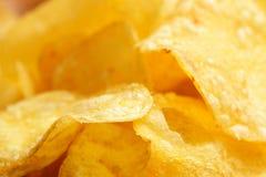 De close-up van chips Stock Afbeelding