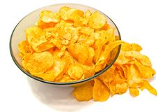De close-up van chips Royalty-vrije Stock Foto