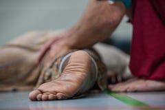 De close-up van de dansersvoet royalty-vrije stock afbeelding