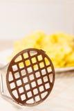 De close-up van de aardappelstamper royalty-vrije stock afbeeldingen