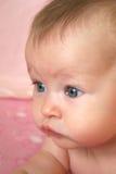 De Close-up van de baby van Gezicht stock afbeelding