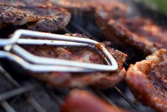 De close-up van de barbecue Stock Afbeelding