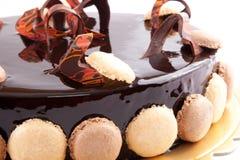 Het Close-up van de Cake van de chocolade Royalty-vrije Stock Afbeelding