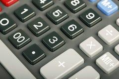 De close-up van de calculator Stock Foto's