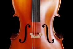 De close-up van de cello royalty-vrije stock fotografie