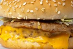De close-up van de cheeseburger Royalty-vrije Stock Afbeelding
