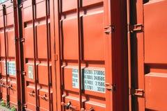 De close-up van de container stock foto's