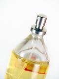 De close-up van de de flessenspuitbus van het parfum Royalty-vrije Stock Foto