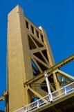 De close-up van de de Ophaalbrugbrug van Sacramento Royalty-vrije Stock Afbeeldingen