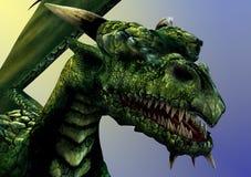 De Close-up van de draak royalty-vrije illustratie