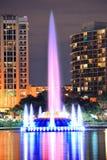 De close-up van de fontein in Orlando Stock Foto's