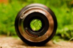 De close-up van de fotolens ziet door eruit royalty-vrije stock afbeeldingen